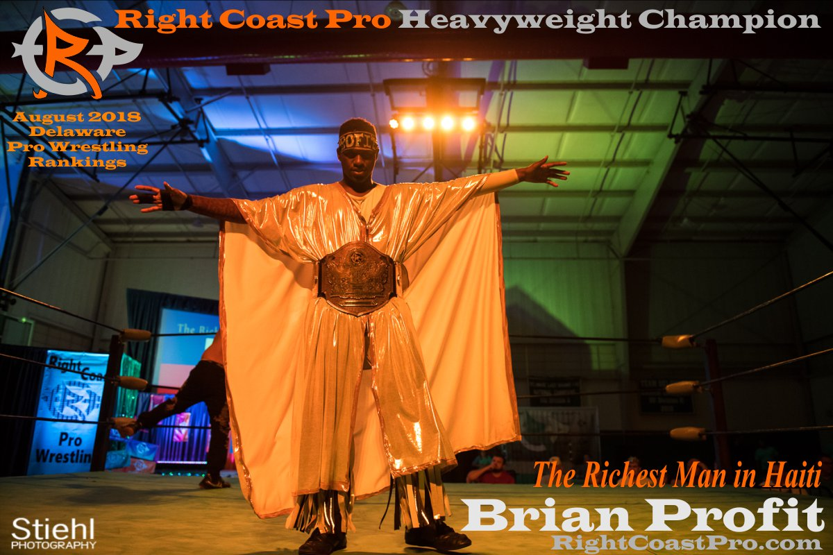 HeavyweightChampion August 2018 Rankings Delaware ProWrestling