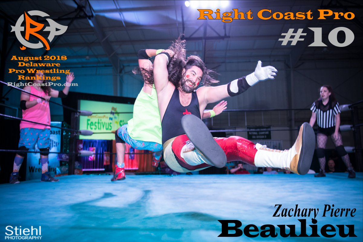 Number 10 August 2018 Rankings Delaware ProWrestling