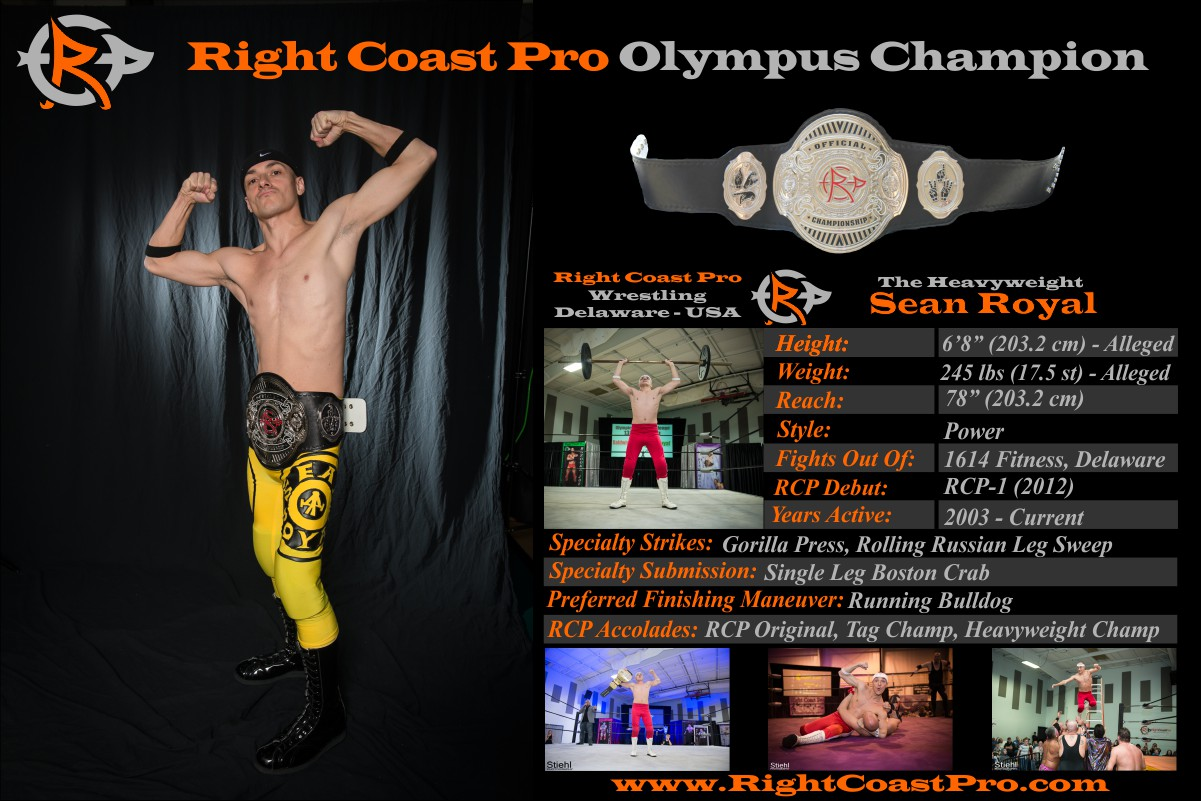 Feb olympus champion RightCoastPro Wrestling Delaware