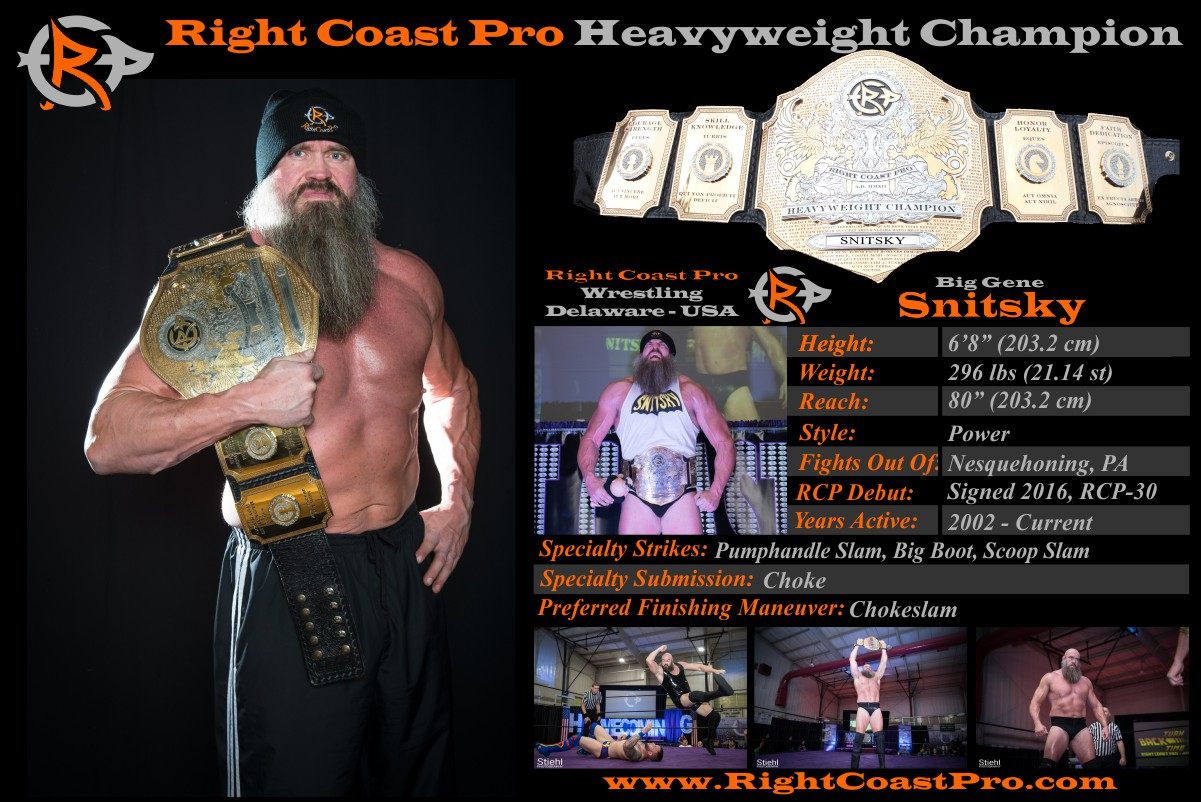 Feb2 heavyweight champion RightCoastPro Wrestling Delaware