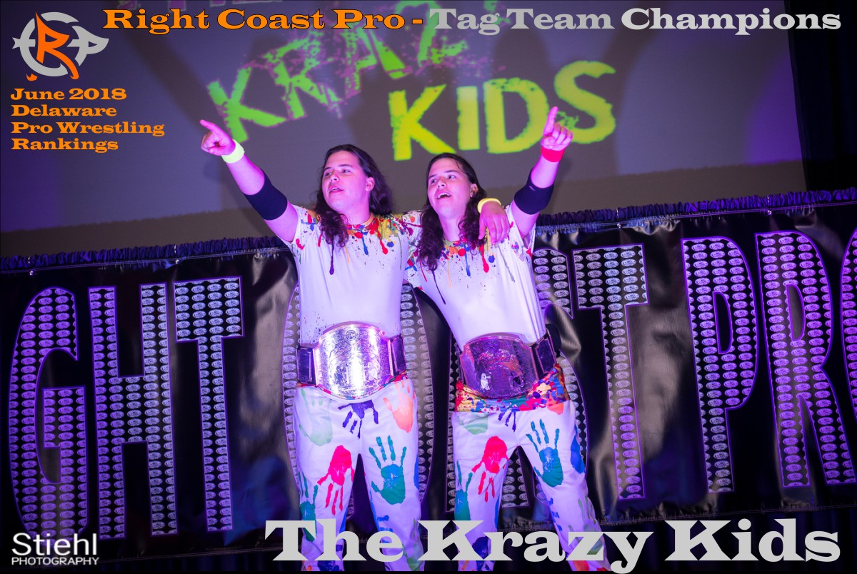 KrazyKids June2018 Rankings RightCoastPro Wrestling Delaware