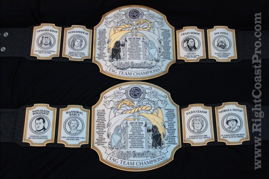 TagTeam Championship Belts RightCoastPro Wrestling