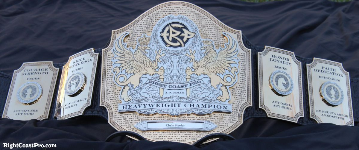 Heavyweight Championship Belt RightCoastPro Wrestling Delaware