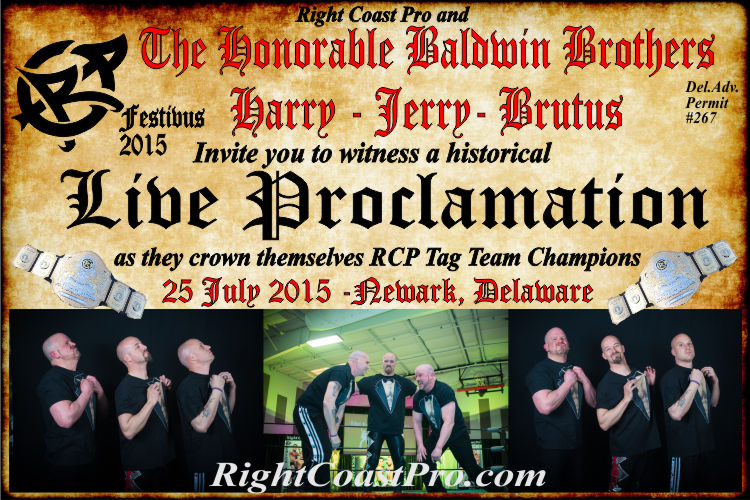 Baldwins RCP22 RightCoastPro Wrestling Delaware Community Entertainment Event