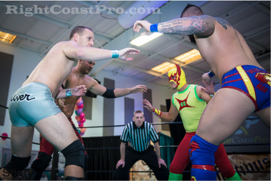 fourway 1 RCP22 RightCoastPro Wrestling Delaware Festivus2015 Event