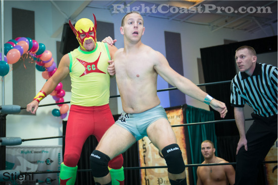 fourway 3 RCP22 RightCoastPro Wrestling Delaware Festivus2015 Event