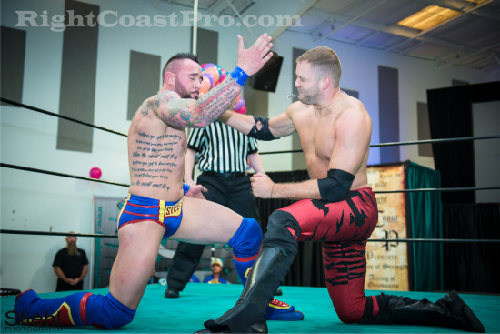 fourway 4 RCP22 RightCoastPro Wrestling Delaware Festivus2015 Event