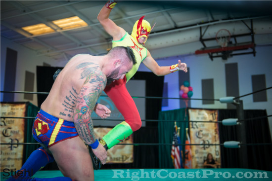 fourway 5 RCP22 RightCoastPro Wrestling Delaware Festivus2015 Event