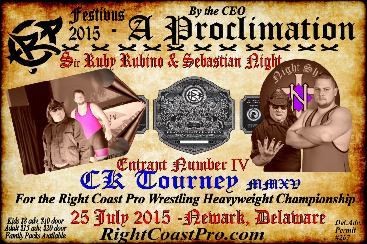 Ruby CK Tourney RCP22 RightCoastPro Wrestling Delaware Community Entertainment Event