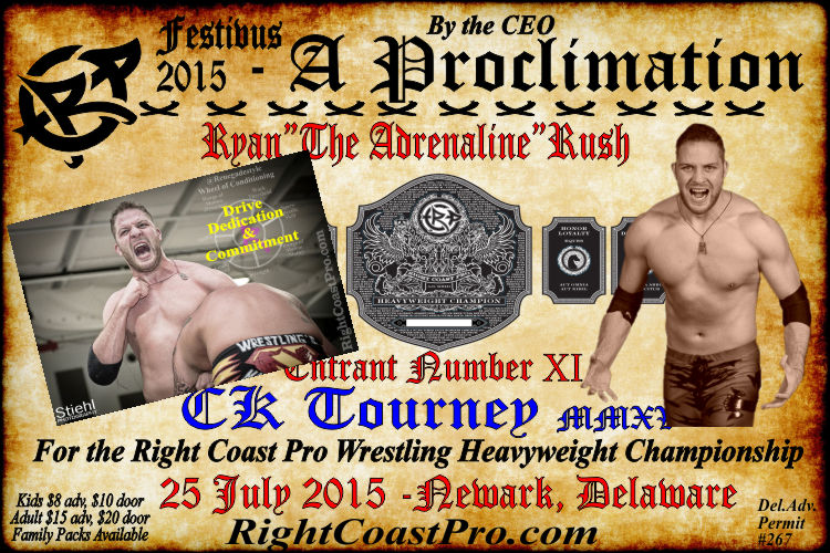 Rush 11 CK Tourney RCP22 RightCoastPro Wrestling Delaware Community Entertainment Event