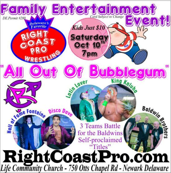 3 way tagteam RightCoastPro Wrestling Delaware