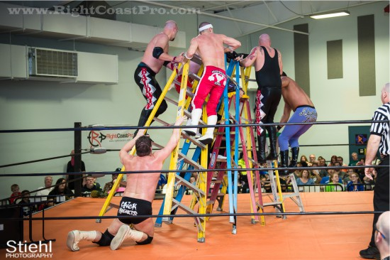 Ladder Match StrangeHappenings Delaware Event RightCoastPro Wrestling