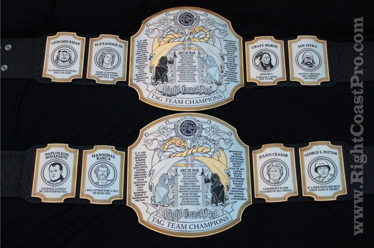 TagTeam Championship Belts RightCoastPro Wrestling 1