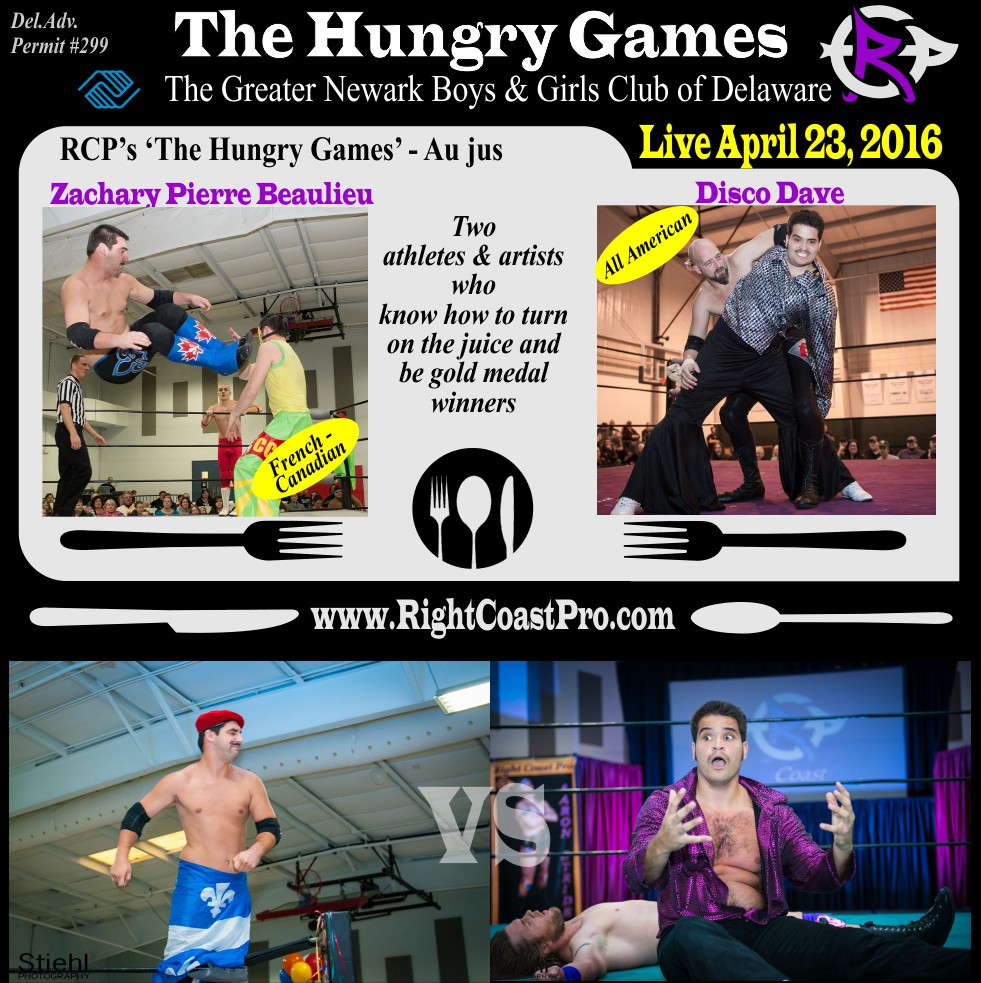 HungryGames aujus ProWrestling Delaware