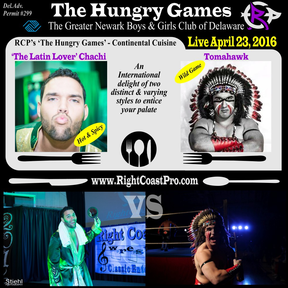 Web tomahawk RCP29 RightCoastPro Wrestling Delaware HungryGames