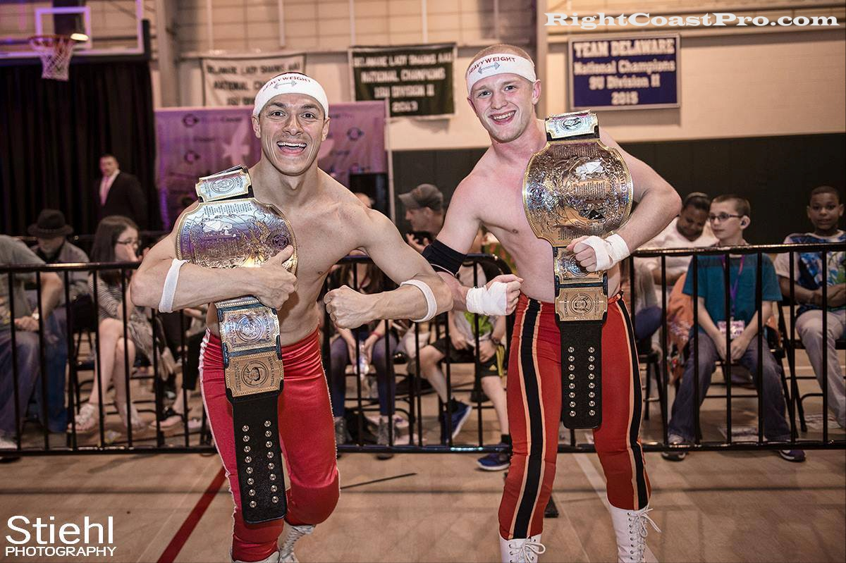 Heavyweights Champs RightCoastPro Wrestling Delaware hungry games Event