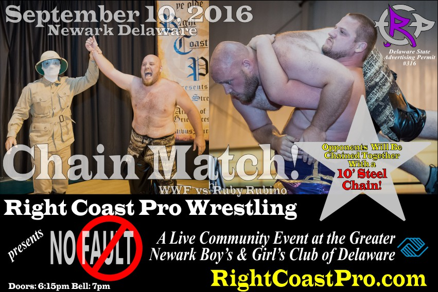 Ruby wwf chain RCP31 NoFault RightCoast ProWrestling Delaware