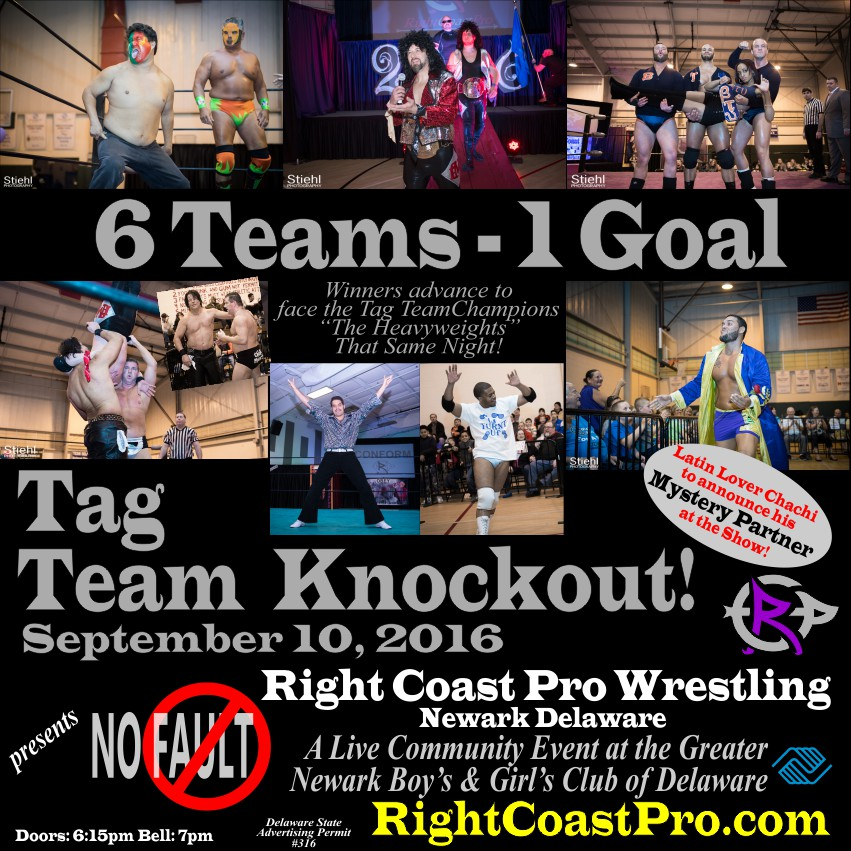 TagTeam knockout RCP31 RightCoast ProWrestling Delaware