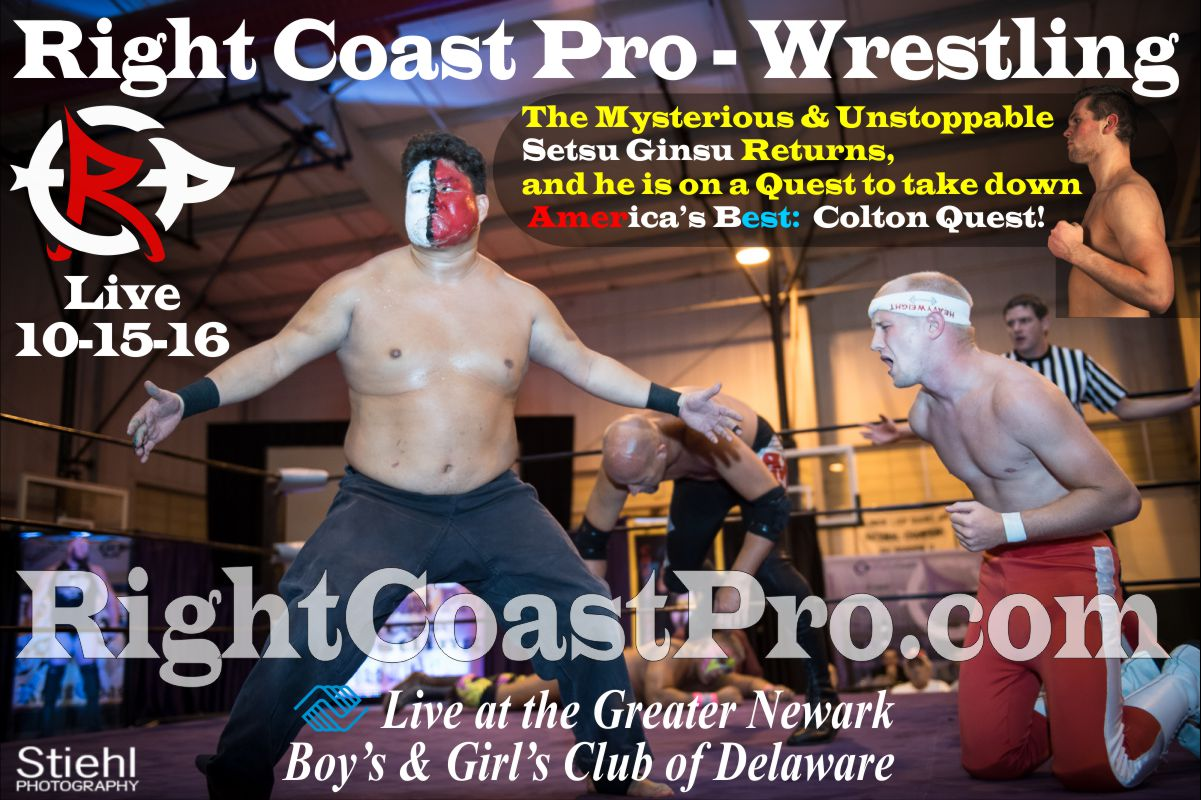 SmallFront poster RCP32 homecoming RightCoast ProWrestling Delaware