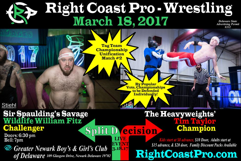 RCP35 TagTitle 2 split decision RightCoast ProWrestling Delaware