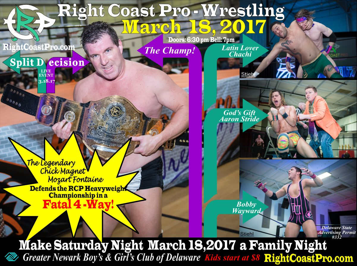 championship FourWay split decision RightCoast ProWrestling Delaware
