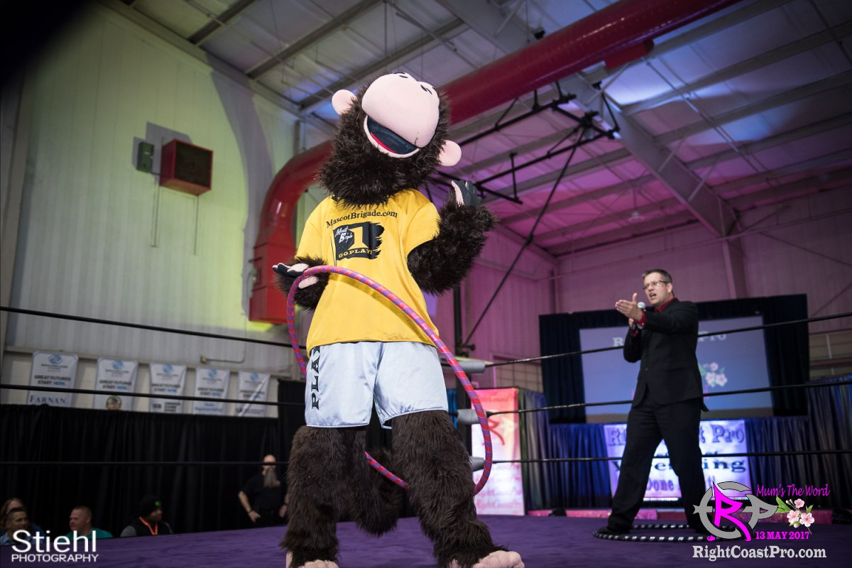 MascotCoastee 4 RCP36 RightCoast ProWrestling Delaware fitness