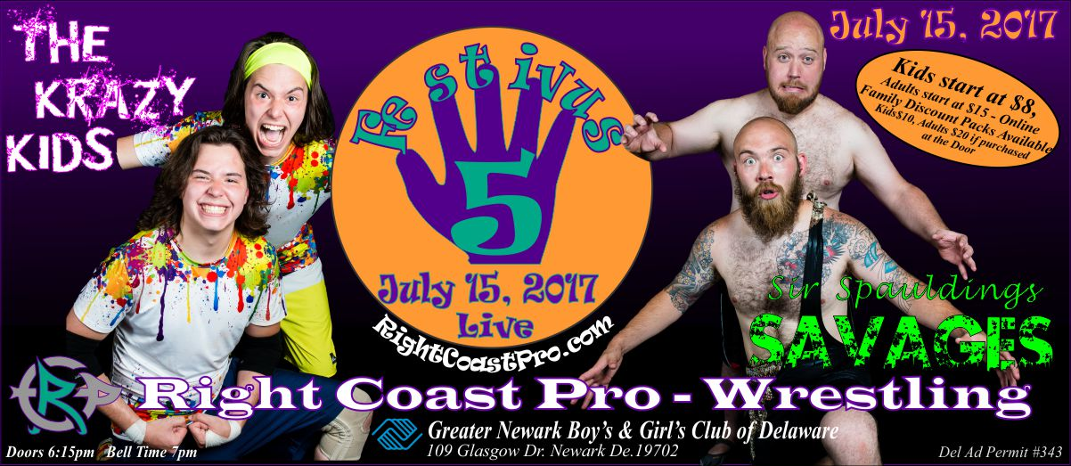 KrazyKids Festivus Five RightCoast ProWrestling Delaware Event