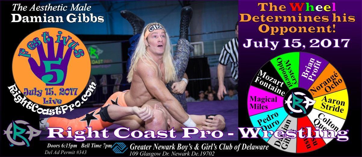 AestheticMale Festivus Five RightCoast ProWrestling Delaware Event