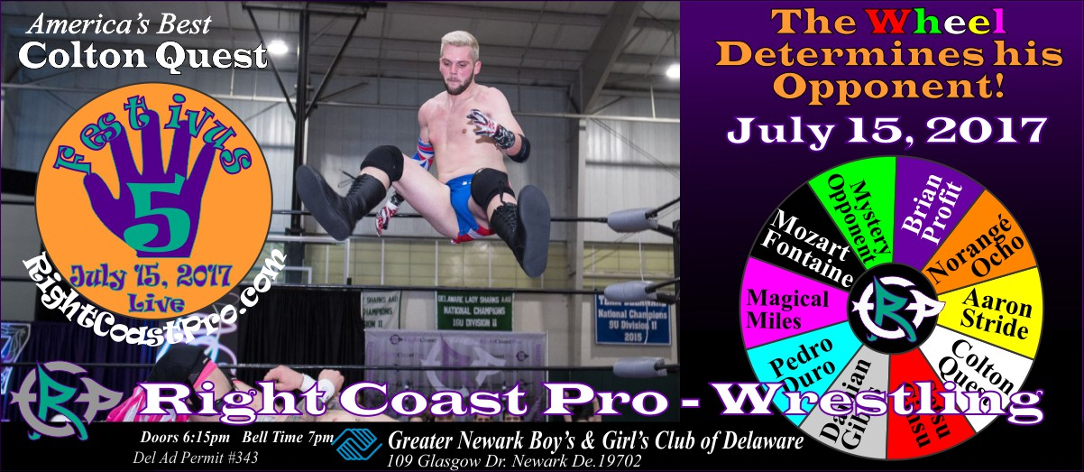 ColtonQuest Festivus Five RightCoast ProWrestling Delaware Event