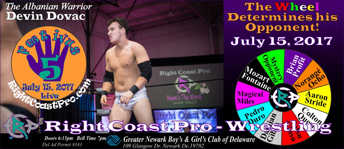 DevinDovac Festivus Five RightCoast ProWrestling Delaware Event