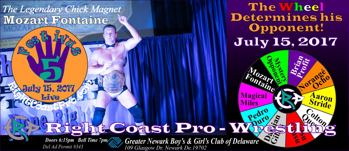 Mozart Festivus Five RightCoast ProWrestling Delaware Event