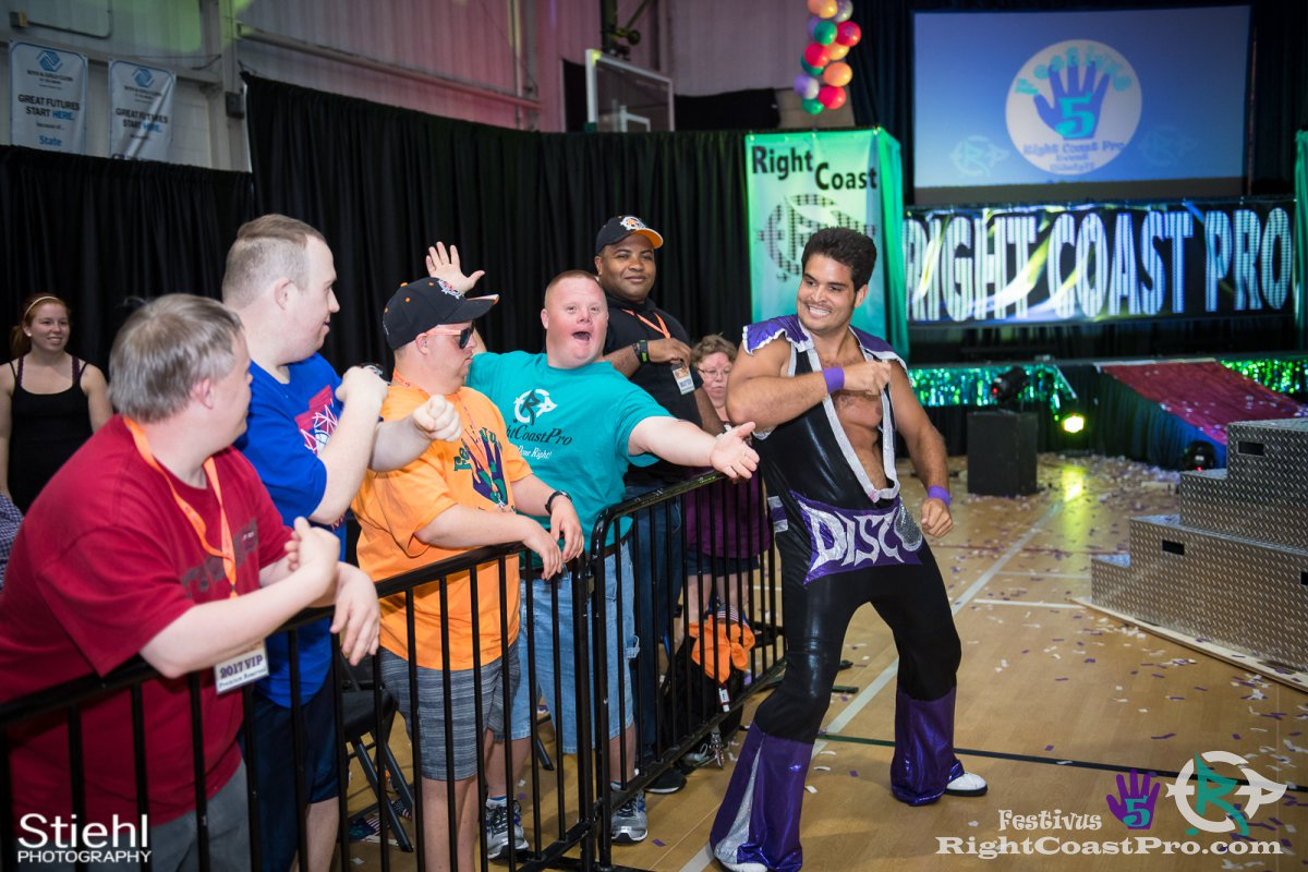 DiscoDave c Festivus Five RightCoast ProWrestling Delaware Event