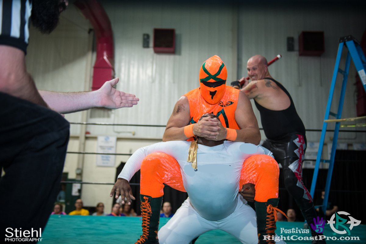 Norange D Festivus Five RightCoast ProWrestling Delaware Event