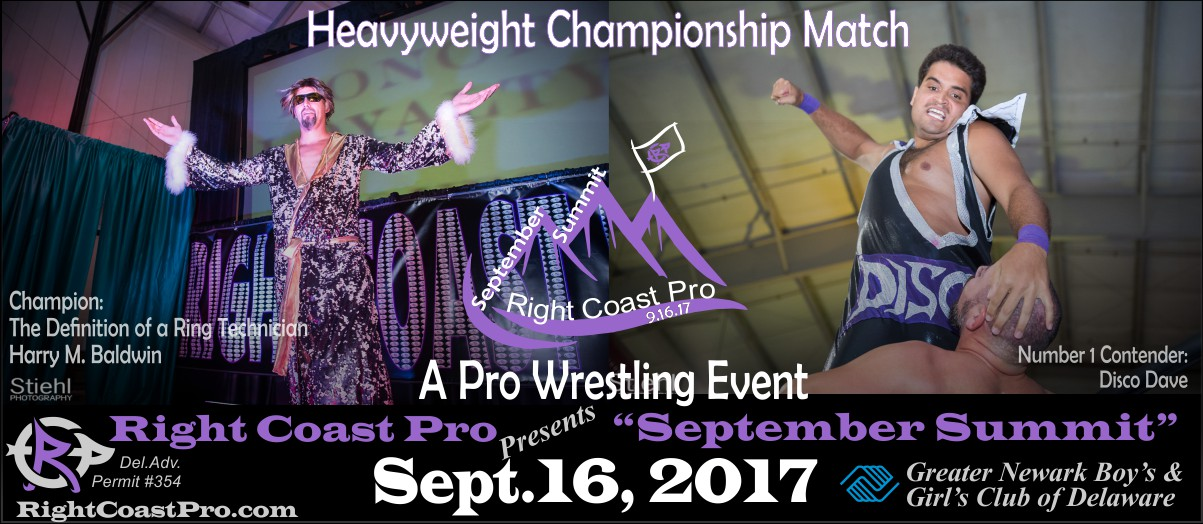 HeavyweightChampionship SeptemberSummit RightCoastPro Wrestling Delaware