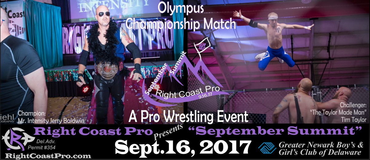 OlympusChampionship SeptemberSummit RightCoastPro Wrestling Delaware