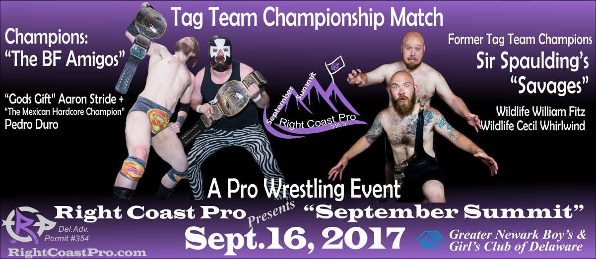 TagTeam SeptemberSummit RightCoastPro Wrestling Delaware
