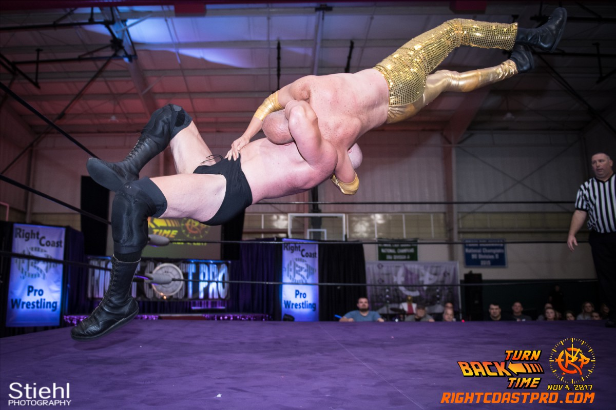 Snitsky B Champion TurnBackTime RightCoastProWrestling