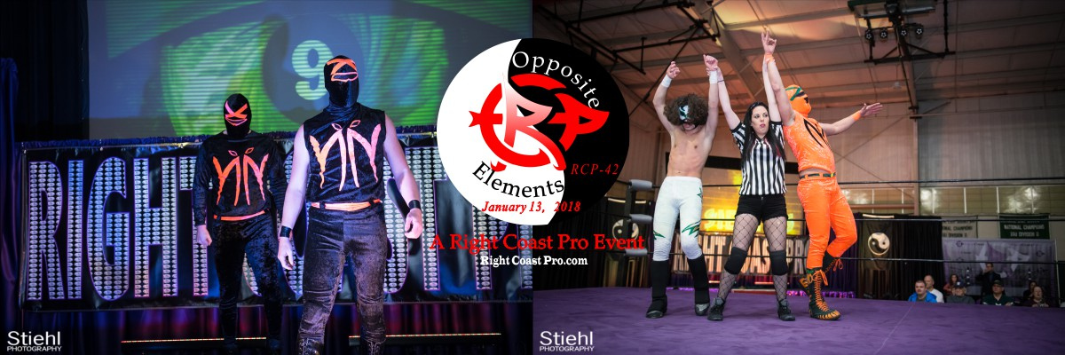 Nein9 Small Banner OppositeElements RCP42 RightCoast Pro Wrestling Delaware