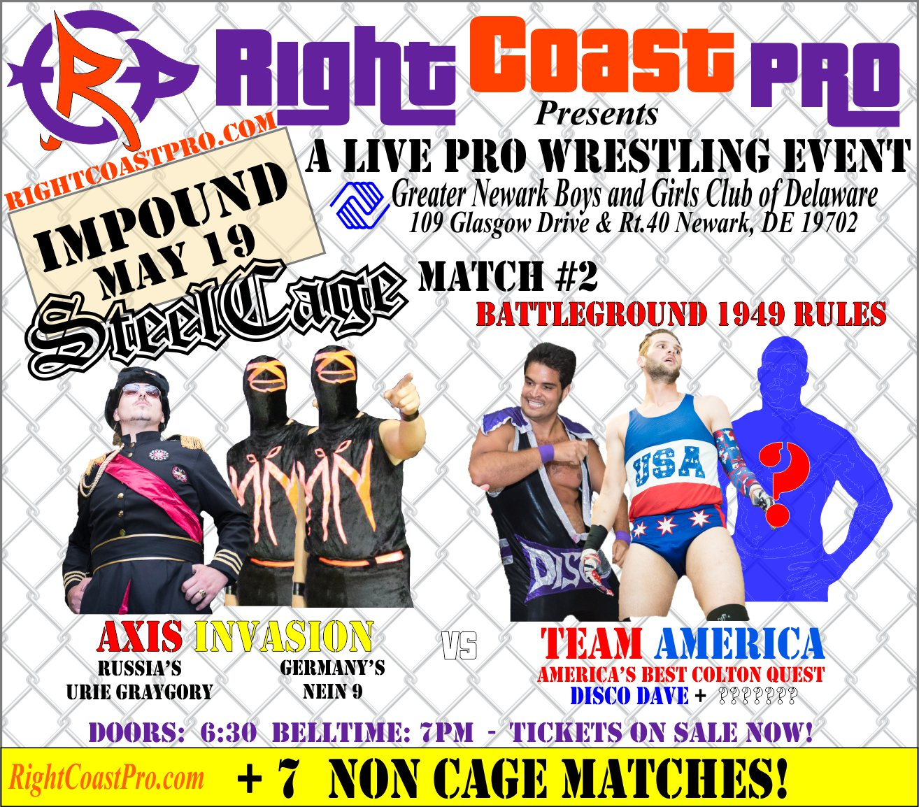 RCP45 Right Coast Pro Wrestling Delaware Event CageMatch2Battleground