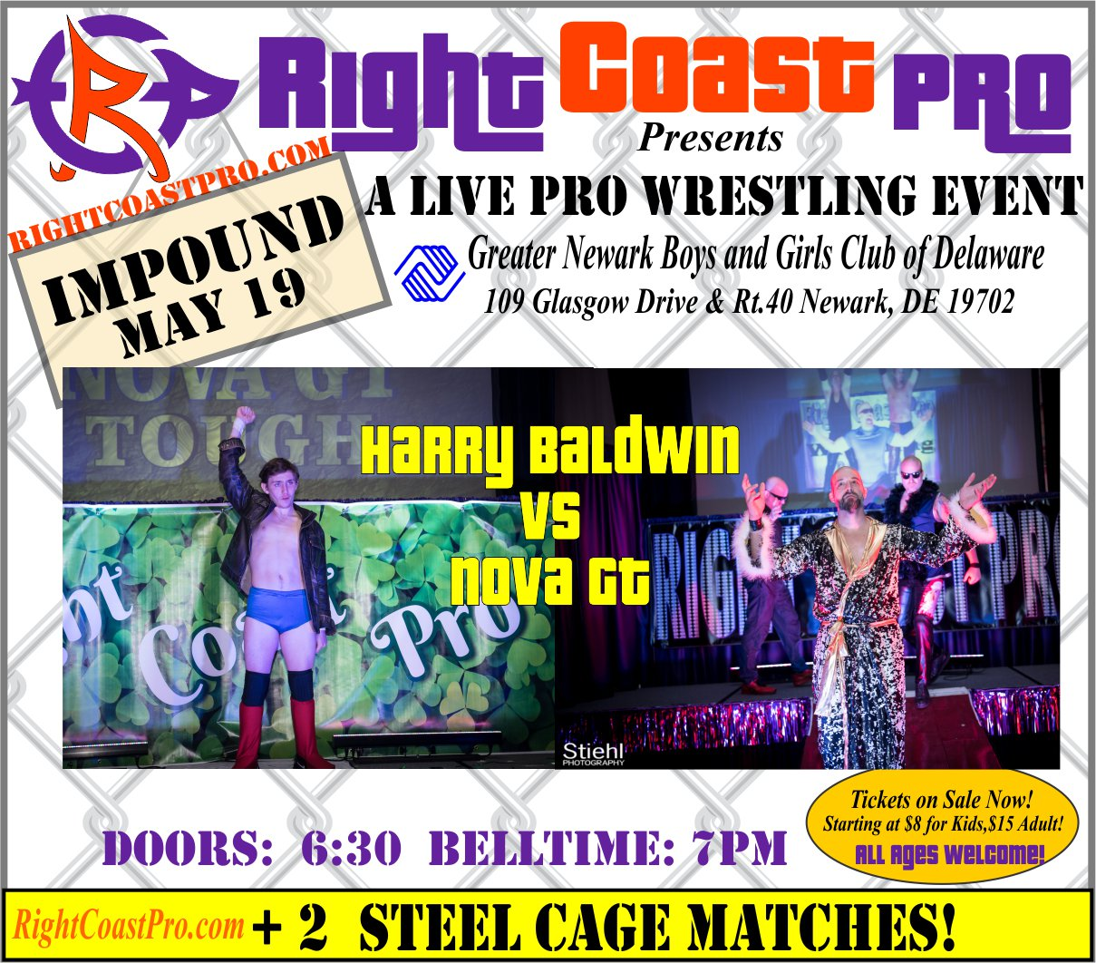 RCP45 Right Coast Pro Wrestling Delaware Event HarryBaldwinVSNova