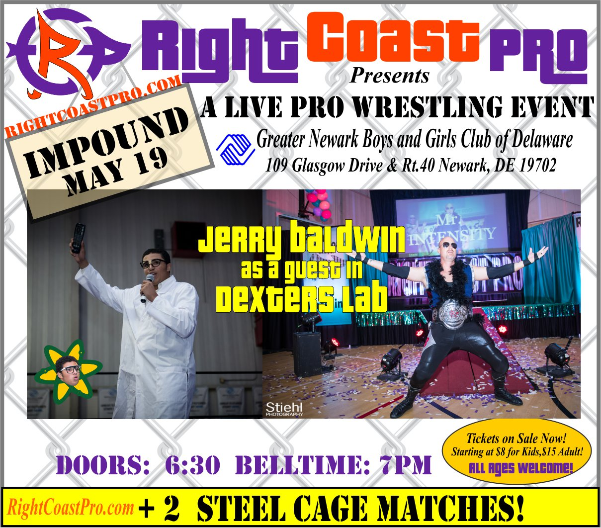 RCP45 Right Coast Pro Wrestling Delaware Event JerryBaldwinVSDexter