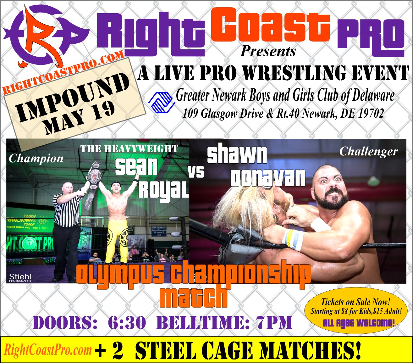 RCP45 Right Coast Pro Wrestling Delaware Event OlympusChampionship