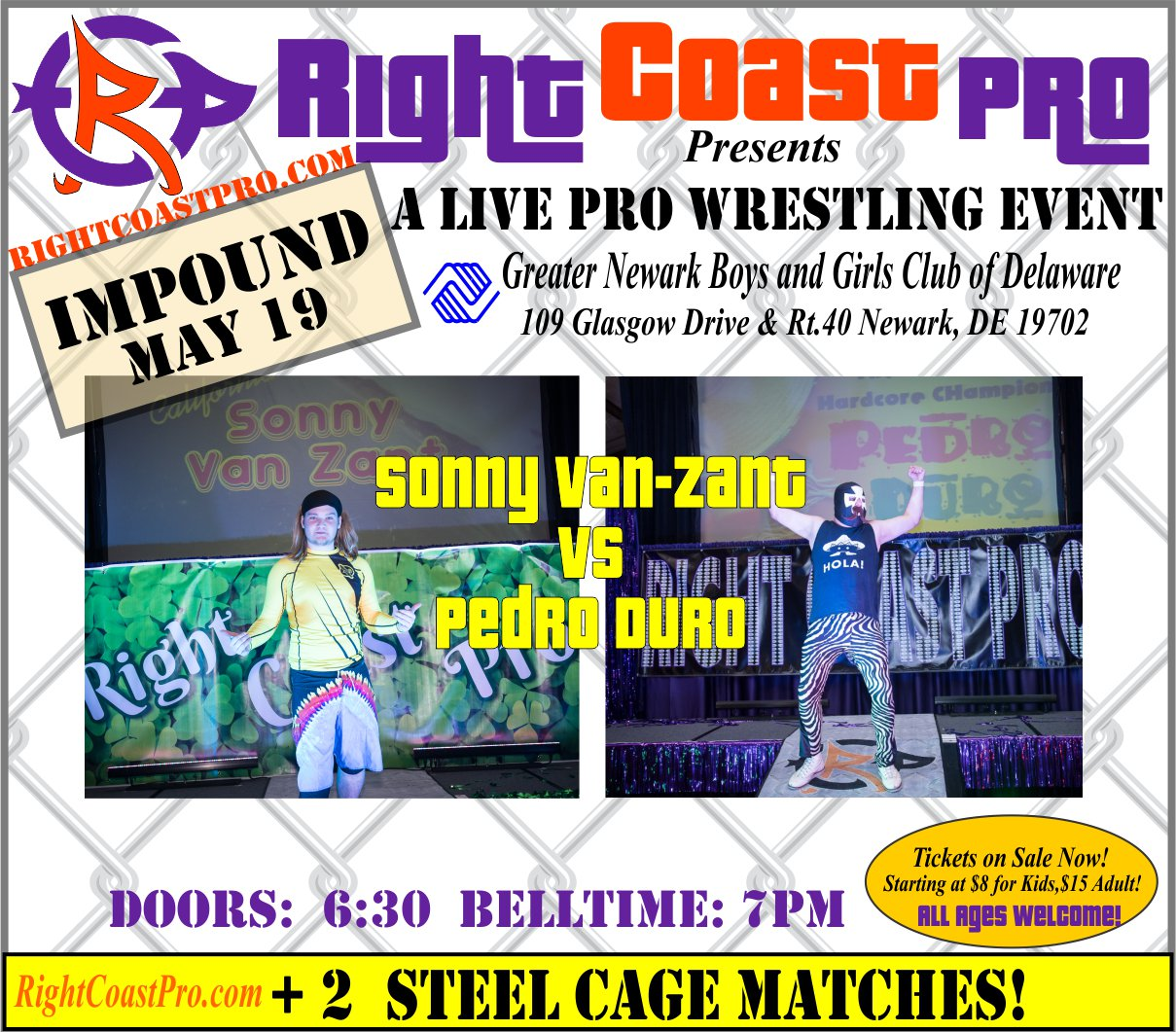 RCP45 Right Coast Pro Wrestling Delaware Event SonnyVSPedro