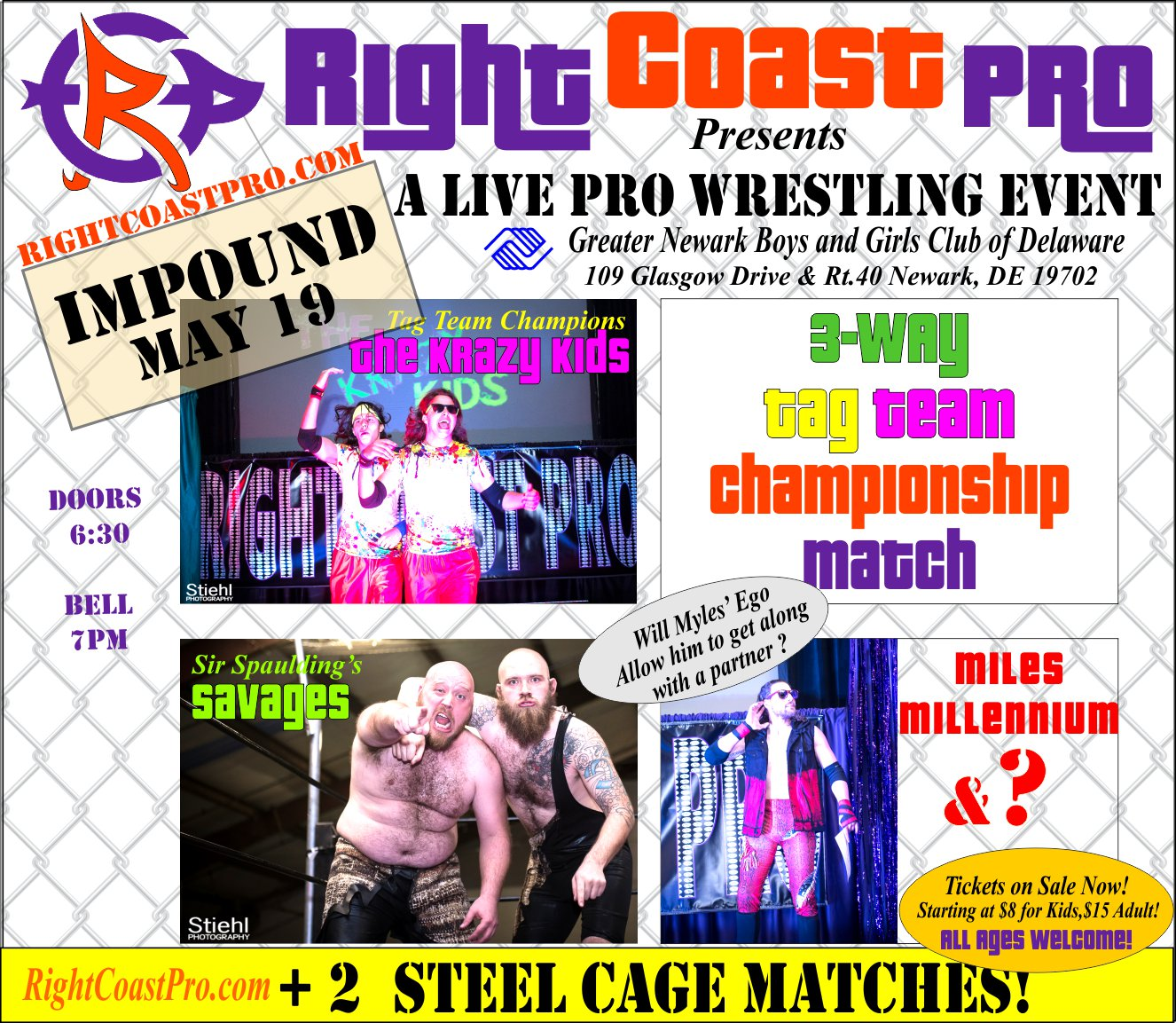 RCP45 Right Coast Pro Wrestling Delaware Event TagTeamChampionship