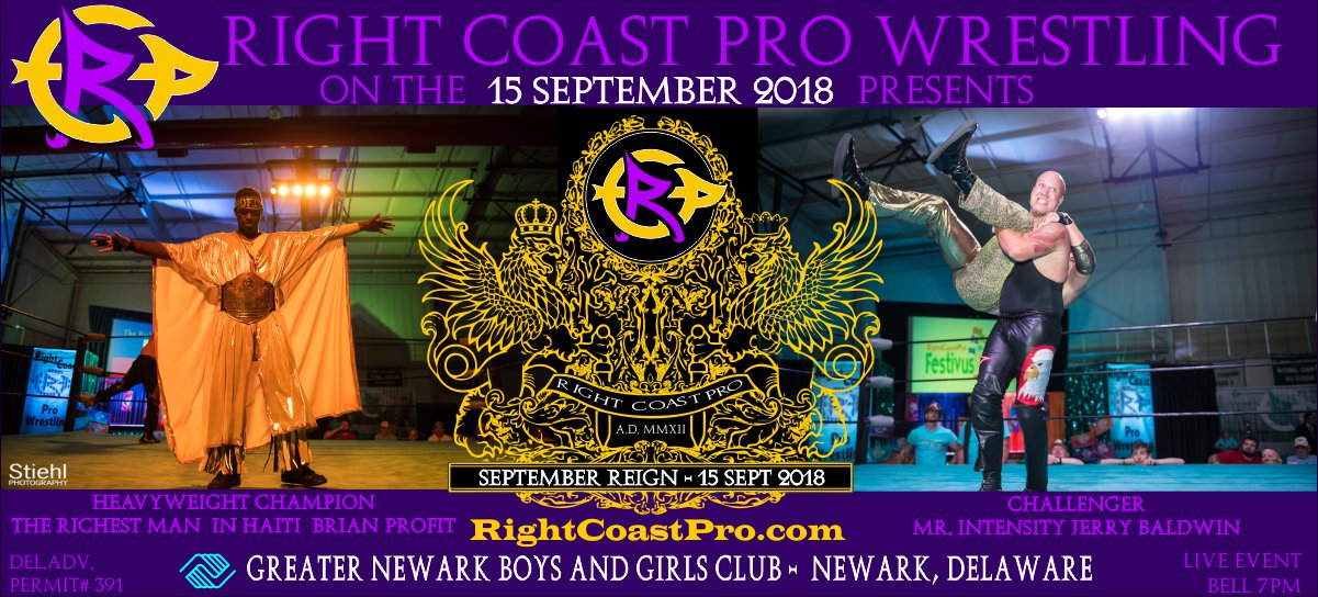 HeavyweightChampionship SeptemberReign RCP47 RightCoastProWrestlingDelaware