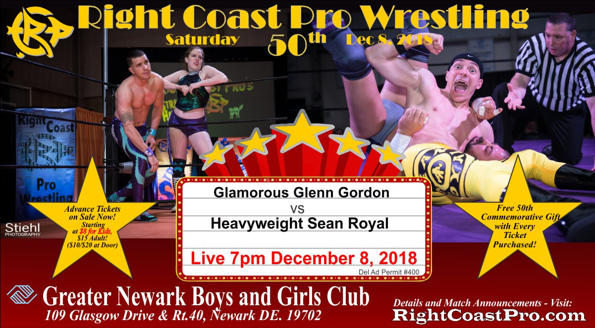 3g Royal MatchGraphic RCP50 RightCoastProWrestlingDelaware