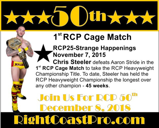 50thCommemorative 1stRCPCageMatch Steeler
