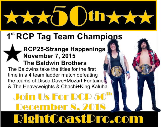 50thCommemorative 1stRCPTagTeamChampions