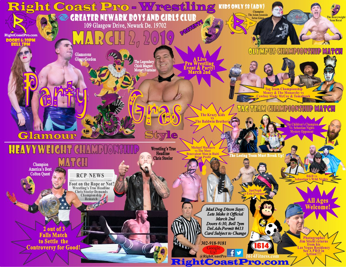 "RCP-52 ""Party Gras"" Live Event Announced for March 2nd!"