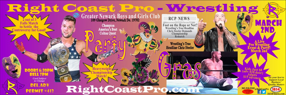 Steeler Quest 1200 RCP52 PARTYGRAS RIGHTCOASTPRO wrestling